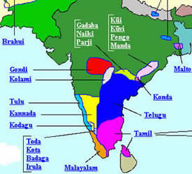 Dravidian Language Map